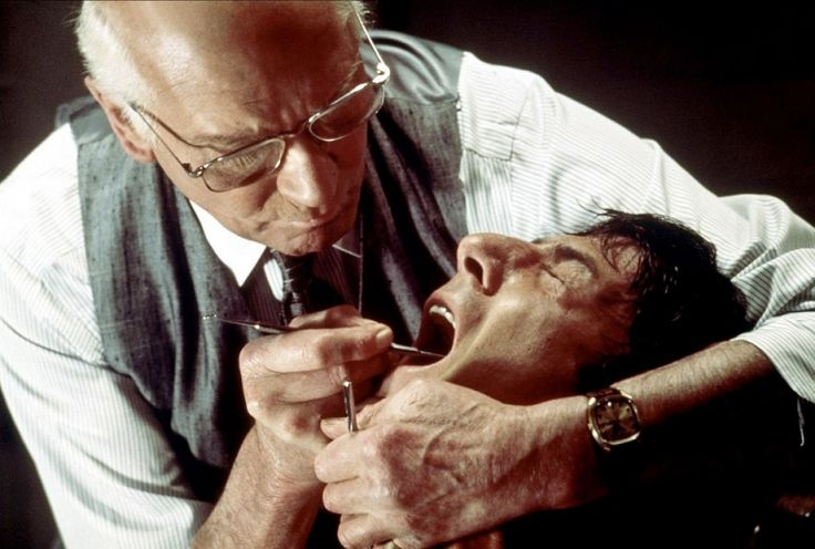 Laurence Olivier and Dustin Hoffman in Marathon Man, 1976. So creepy but so good.