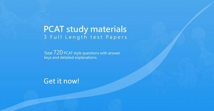 PCAT Study Materials - The Pharmacist Blog