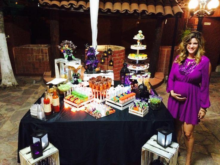 Mesa de Snack de Baby shower Halloween | Mis Eventos ...