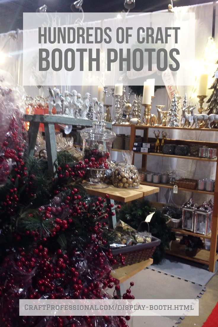Hundreds of craft booth photos http://www.craftprofessional.com/display-booth.html