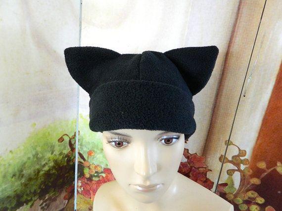 Cat Cap black Gothic Anime Kawaii Punk Rock Costume Beanie
