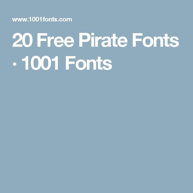 20 Free Pirate Fonts · 1001 Fonts