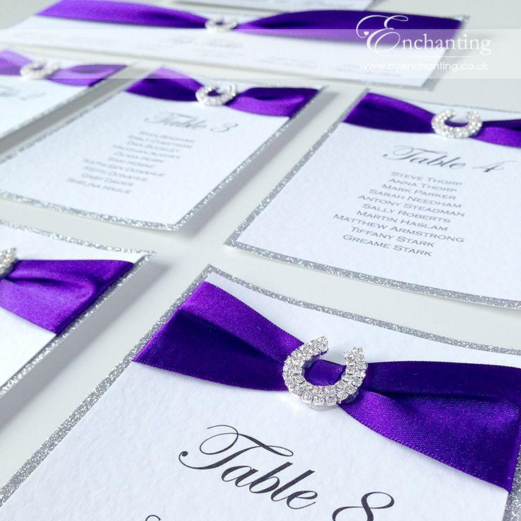 Cadburys Purple Wedding Stationery | The Aurora Collection   DIY Table Plan  / Seating Chart |