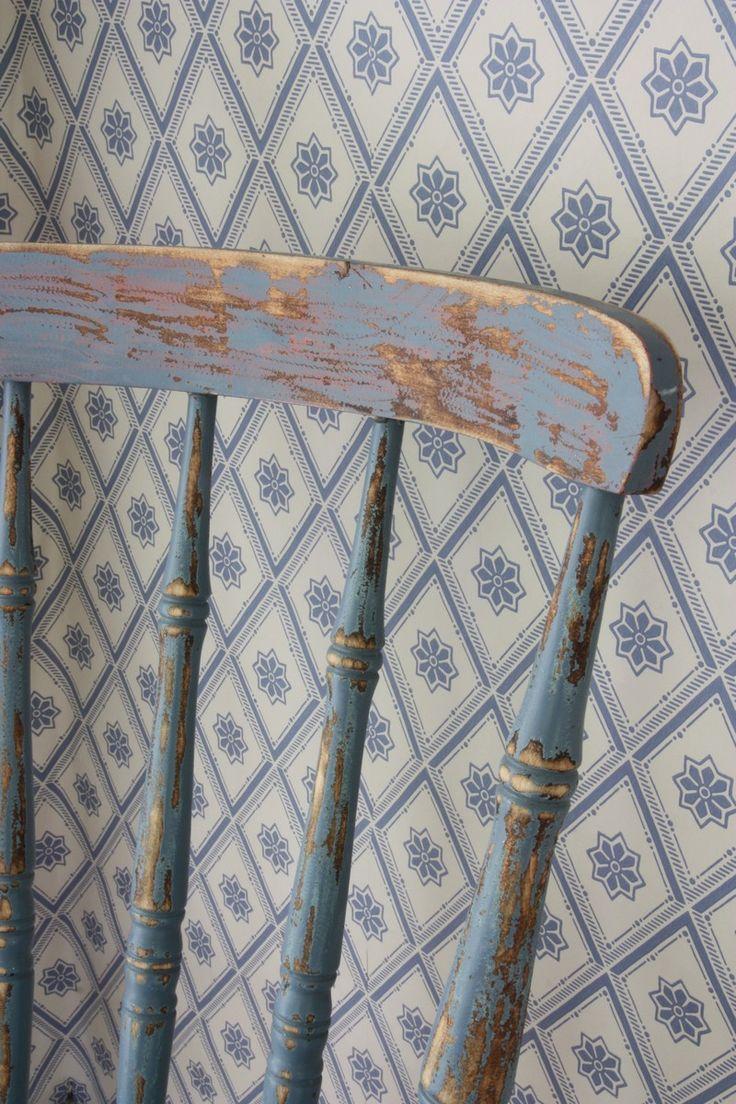 Respaldo de silla de balostres shabby chic