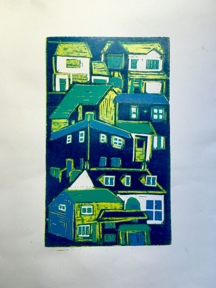 This is a print of the houses I've lived in my 20 years