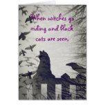 Black Cat Halloween Card #halloween #happyhalloween #halloweenparty #halloweenmakeup #halloweencostume