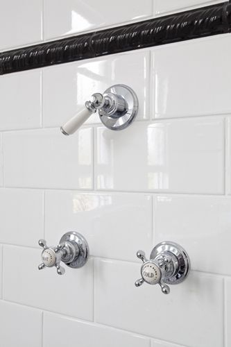 Love the hardware and also the black tile border
