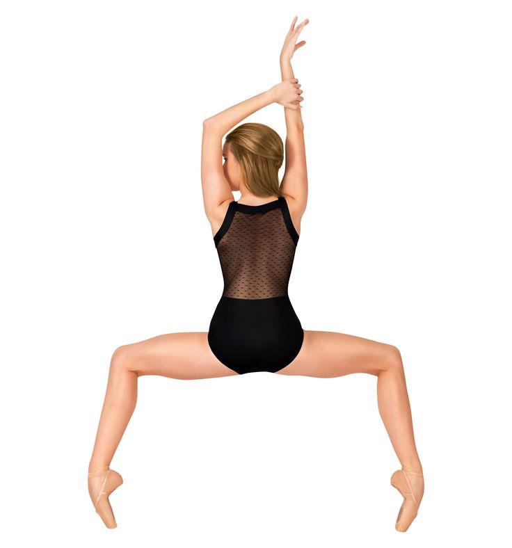Adult Dot Mesh Tank Leotard - Style Number: NC8820 #discountdance #mesh