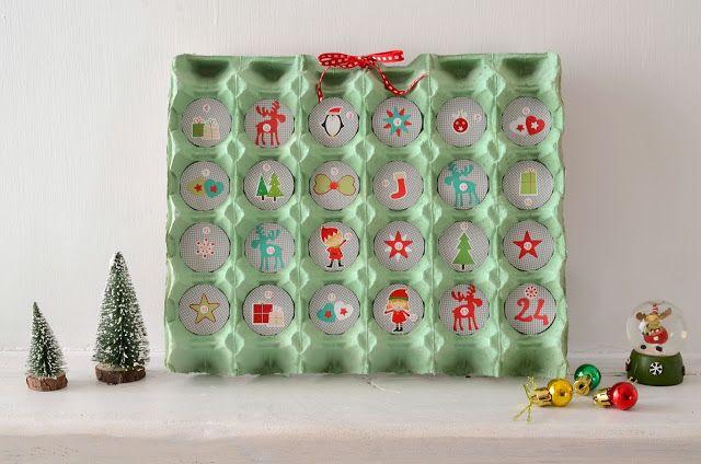 How to make a advent calendar with carton eggs