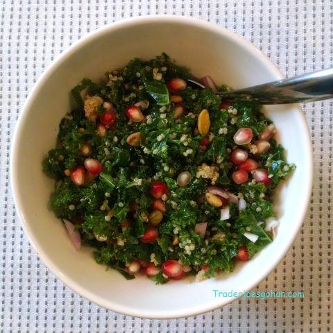Trader Joe's Kale ケールとキヌアとザクロのサラダボール レシピ