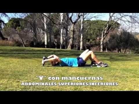 "1.37 Personal Running - ABDOMINALES SUPERIORES E INFERIORES ""V"" con mancuernas"