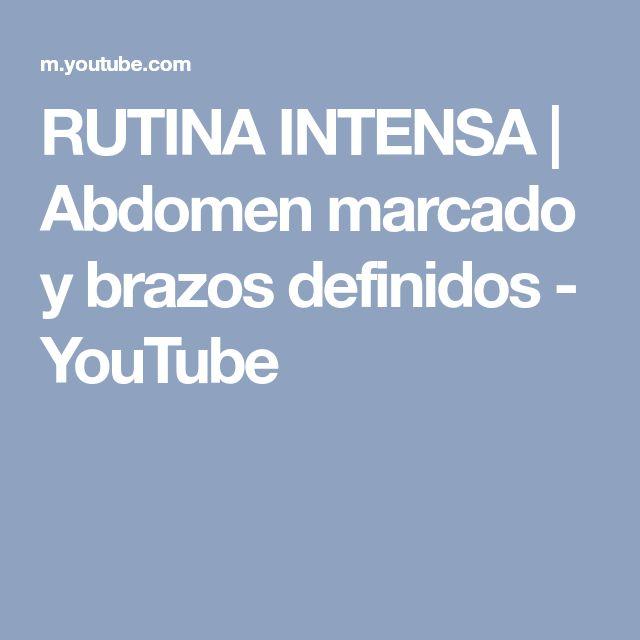 RUTINA INTENSA | Abdomen marcado y brazos definidos - YouTube