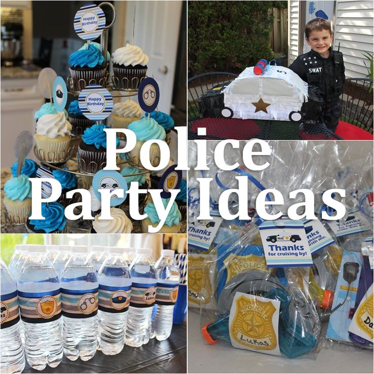 Police Birthday Party Ideas – 5M Creations Blog