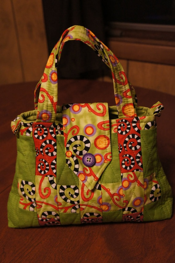 Handmade quilted purse by PursesbyStephanie on Etsy, $40.00