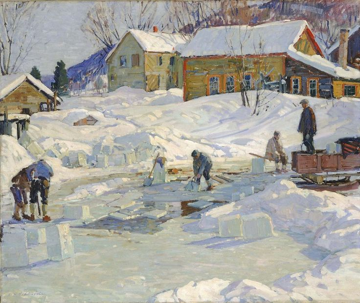 Aldro T. Hibbard, (Falmouth, Massachusetts 1886,Died: Rockport, Massachusetts 1972).Ice Pond, 1927,oil on canvas301/2 x 361/8 in. (77.5 x 91.8cm).Smithsonian American Art MuseumBequest of Henry Ward Ranger through the National Academy of Design