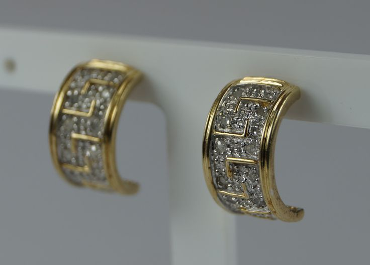 Fully Hallmarked 375 9ct Yellow Rose and White Gold Double Hoop Earrings