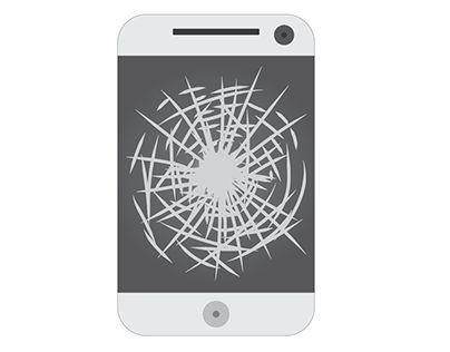 """Check out new work on my @Behance portfolio: """"Cracked Phone Screen"""" http://be.net/gallery/36214011/Cracked-Phone-Screen"""