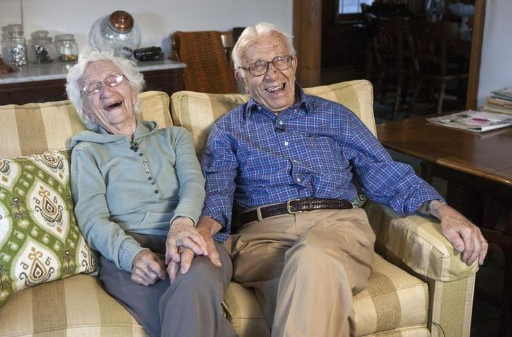 """81 years of marriage. """"The key is to always agree with your wife,"""" he says. Their oldest daughter is 80."""