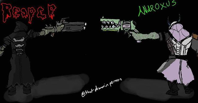 """Drew a standoff :) reaper vs androxus #reaper #androxus #overwatch #blizzard #videogames #standoff #evilvsgood #evil #vs #good #paladins #guns"" by @thatdrawinperson. #myazariamakasar #myazariajakarta #peluangusaha #testimonimyazaria #networkmarketing #myazariasurabaya #peluangbisnis #myazariaindonesia #myazariahongkong #affiliatemarketing #makemoneyonline #mci #inbound #salesfunnel #listbuilding #webmarketing #makingmoney #successmindset #businesslife #entrepreneurquotes #successquote…"