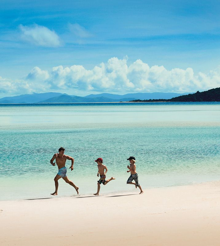 Run along the beach and relax...