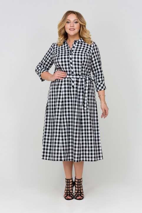 Коллекция платьев для полных женщин российского бренда Intikoma, весна-лето 2017