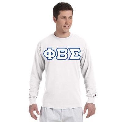 Phi Beta Sigma Champion Long-Sleeve Tee - Champion CC8C - TWILL