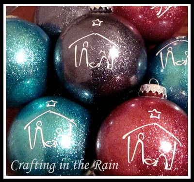 Glitter Nativity Ornaments