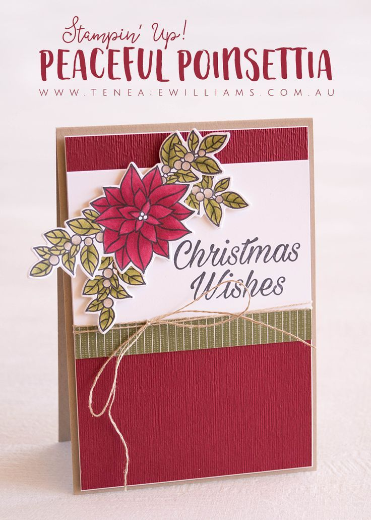 Peaceful Poinsettia | Stampin\' Up! Cards | Pinterest | Christmas ...