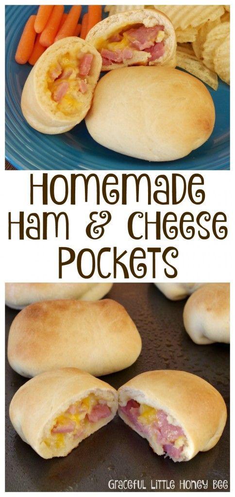Learn how to make Homemade Ham and Cheese Pockets on gracefullittlehoneybee.com