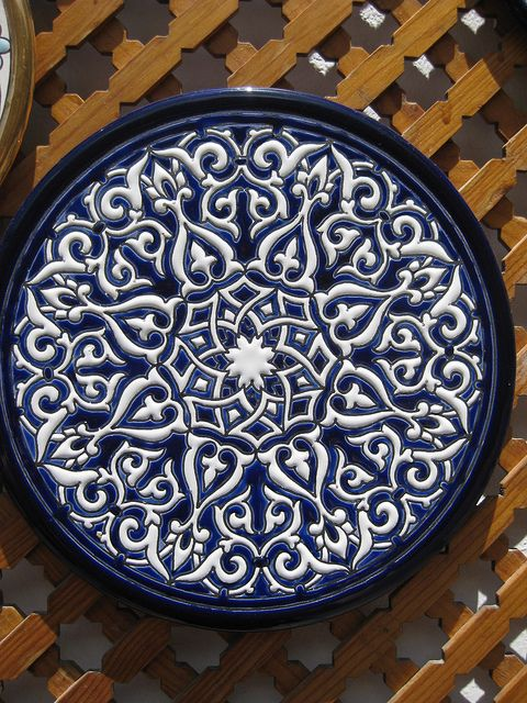 Moorish design plate by dianefoulds, via Flickr