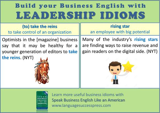 Enjoy these useful business English idioms related to leadership!