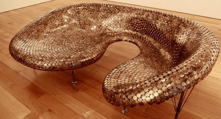 I see your penny floor and raise you coin furniture.