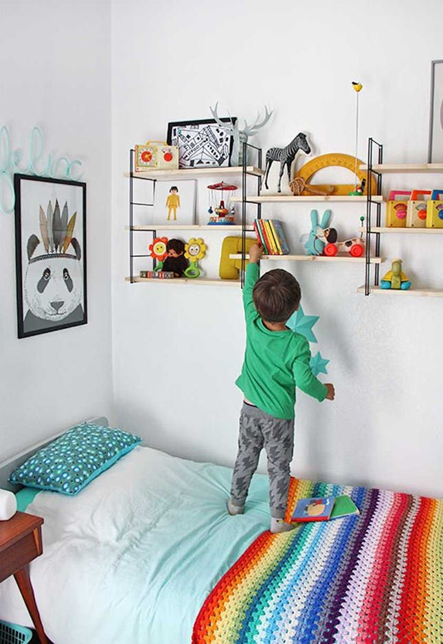 11 Modern And Colorful Takes On Bedroom Decor For Kids Colorful Kids Room Colorful Boys Room Kids Room Shelves International ideas for kids rooms