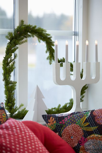 These Christmas lamps light up every window in Sweden during December.