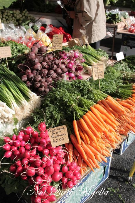 Our weekend ritual.. Yummy fresh vegies every weekend from the Hmong at the Salamanca Markets..