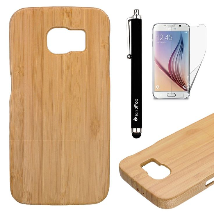 Landfox Case,Samsung Case,Samsung Galaxy S6 Case,Case for Samsung Galaxy S6 ;landFox Genuine Natural Bamboo Wooden Wood Case Cover for Samsung Galaxy S6