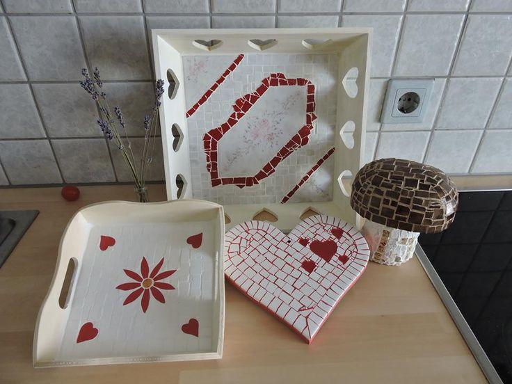 Mosaik Weiss-Rot
