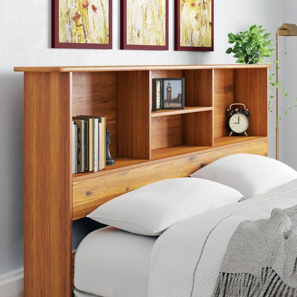 A Wooden Storage Headboard Made With Walnut And Love Remodelista Headboard Storage Headboard With Shelves Home