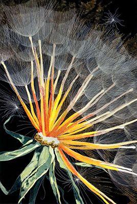 Dandelion, Kate ThemelKatethemel, Emergency Artists, Amazing Quilt, Quilt Artists, Art Quilt, Dandelions Art, Quilt National, Kate Themel, Fiber Art