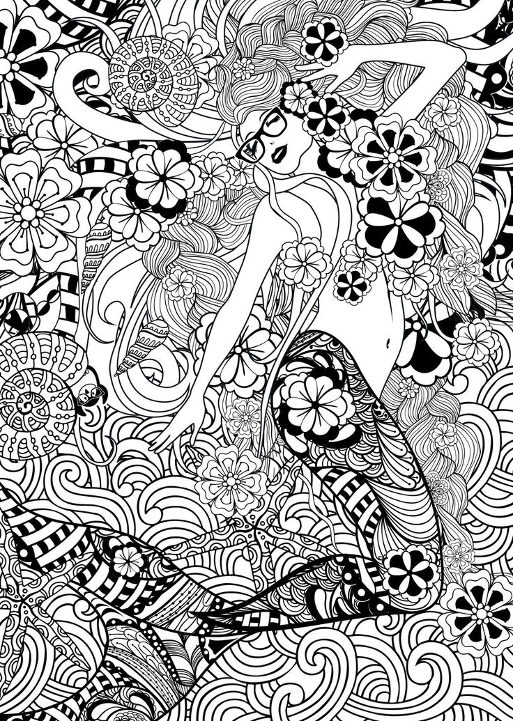 285 best Mermaid Coloring Pages