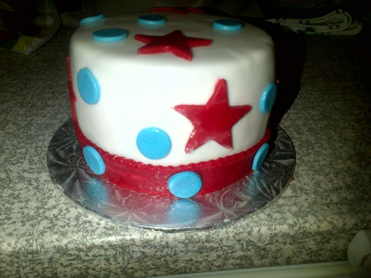 Spur of the moment Cake Red and Blue | Learning to Bake - My Baking | Pinterest | Cake