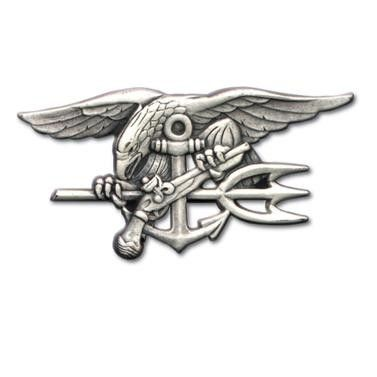 US Navy Seals Special Warfare badge - silver