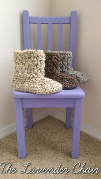 Chunky Slipper Crochet Pattern - The Lavender Chair