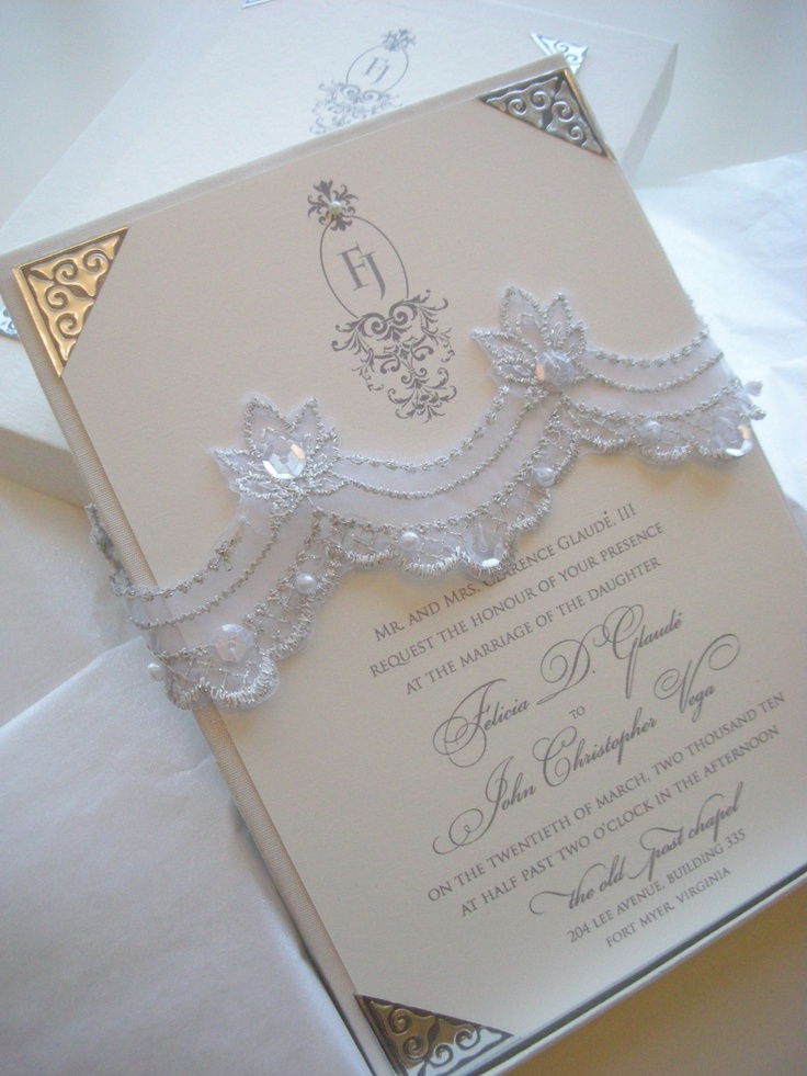 104 best Lace Style Wedding Invitations images on Pinterest ...