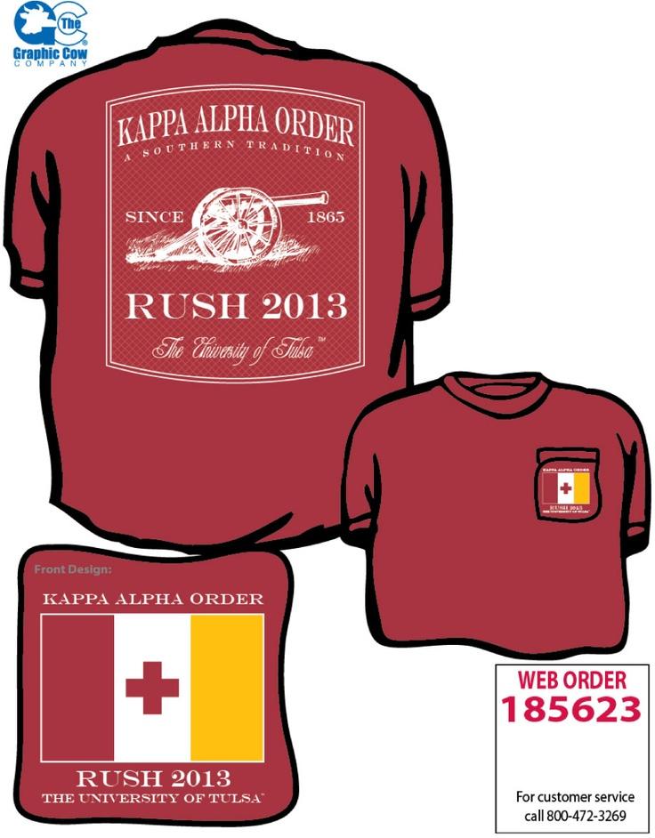 Kappa Alpha Cannon Rush Ka Themed Shirts Pinterest