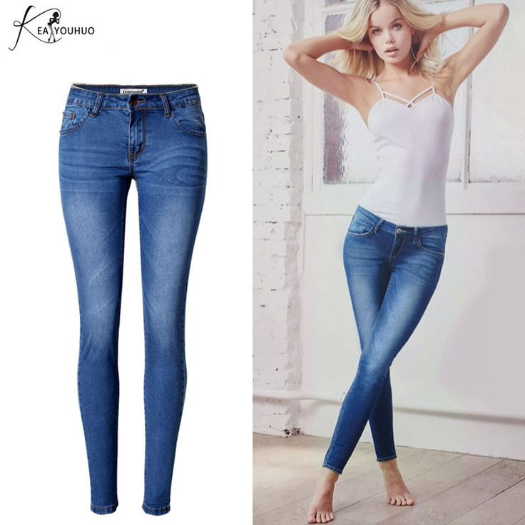 Vaqueros Mujer Slim Pencil font b Pants b font For Women Ripped Jeans For Women font