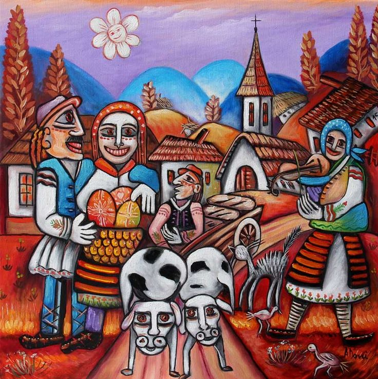 Naive art by Adrian Doni