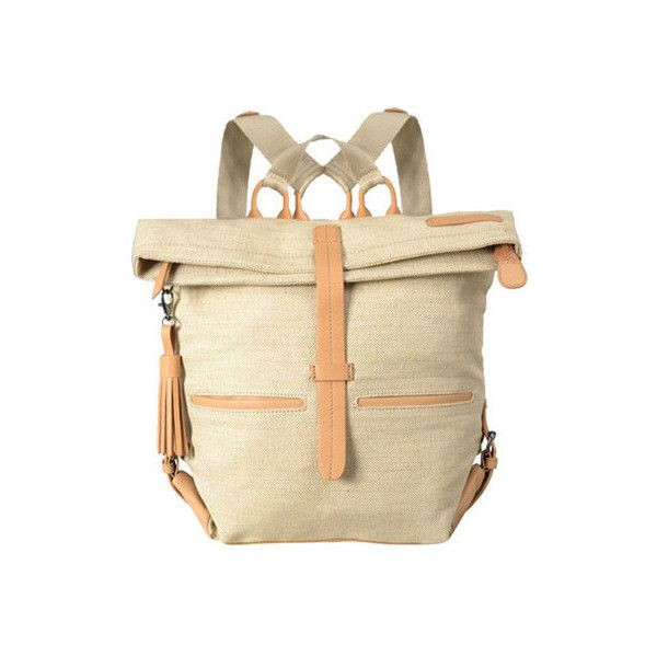Women's Sherpani Amelia Ethos Backpack ($128) ❤ liked on Polyvore featuring bags, backpacks, adjustable strap, fake leather backpack, faux-leather backpack, leather daypack, leather knapsack and beige backpack