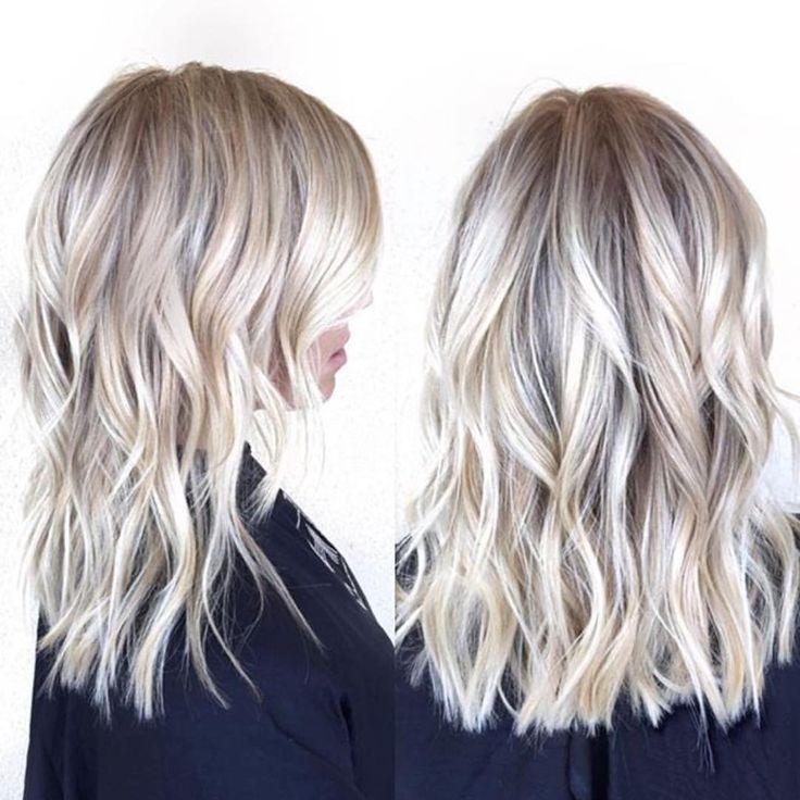 Mid length blonde  | @habitsalon