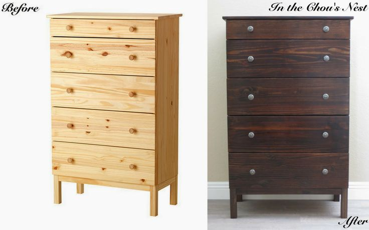 In the Chou's Nest – Ikea Hack / Before and After / Stained Tarva Dresser